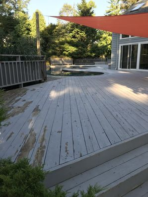 Before & After Deck Painting in Berwyn. PA (1)
