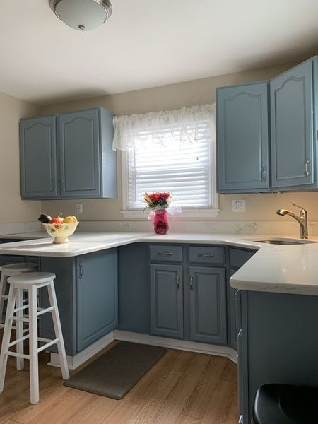 Set of cabinets painted by Blue Frog Painting in Brookhaven, PA (1)