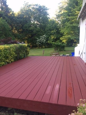 finished deck paint
