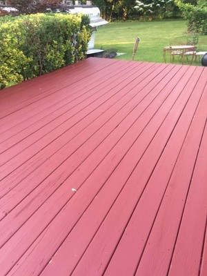 finished deck painted