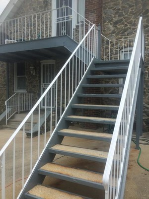 Exterior Metal Staircase Painting NJ