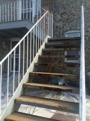 Metal Staircase Painted Exterior NJ