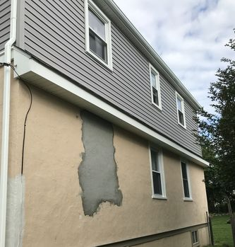 Before and After  of Exterior House Repaint in Glenolden, PA (1)