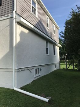 Before and After  of Exterior House Repaint in Glenolden, PA (2)