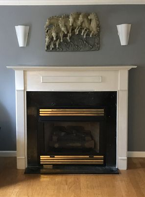 Before & After Fireplace Painting in Secane, PA (2)
