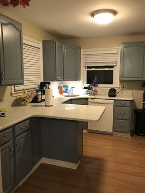 Before & After Kitchen Cabinet Painting in Brookhaven, PA (2)