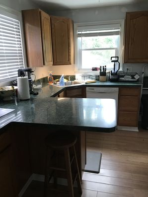 Before & After Kitchen Cabinet Painting in Brookhaven, PA (1)
