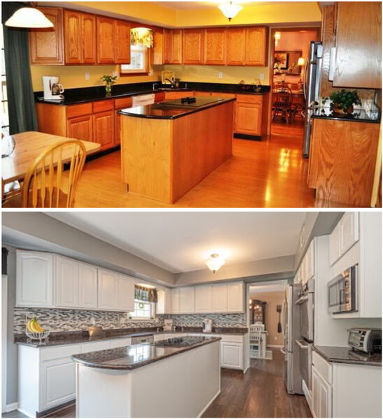 Before & After Cabinets Painted in West Chester, PA (1)