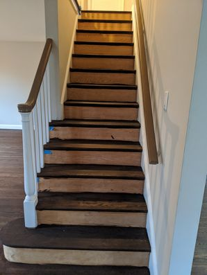 Before & After Stair Painting in Secane, PA (1)