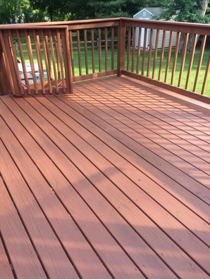 deck after painting